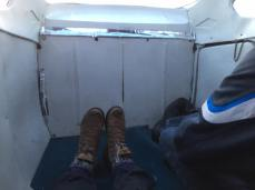 All the leg room in the plane