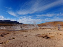 Red sands, blue skies, volcanic action inbetween