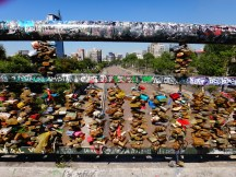 Ahhh, the love locks bridge santiago style!