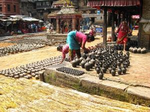 Potter's Square in Bhaktapur in Nepal