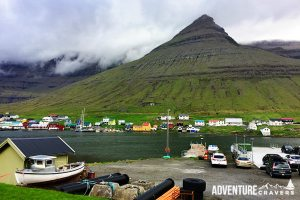 The village of Krokaskakid on the Faroe Islands