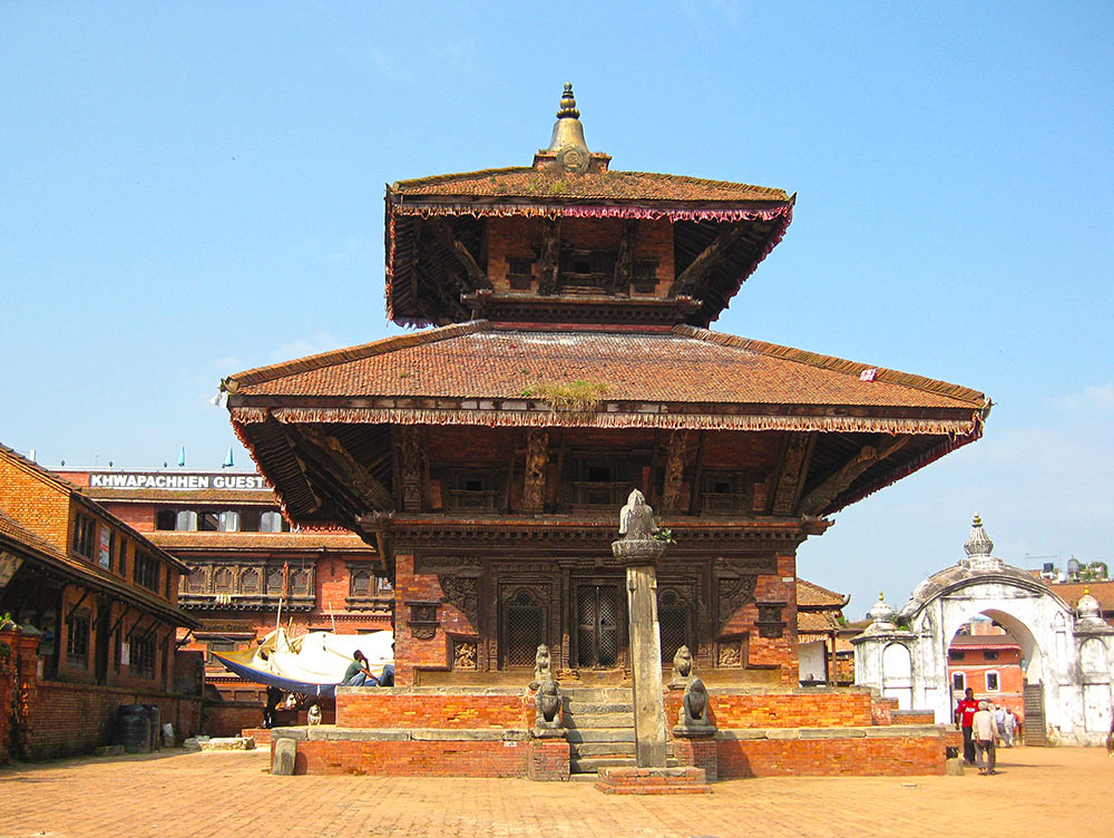One of the many temples in Bhaktapur Durbar Square