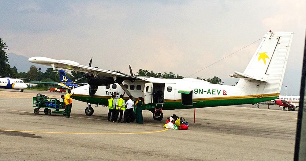 The plane to Lukla