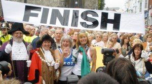 Rosie Swale-Pope Run Around the World Finish Line