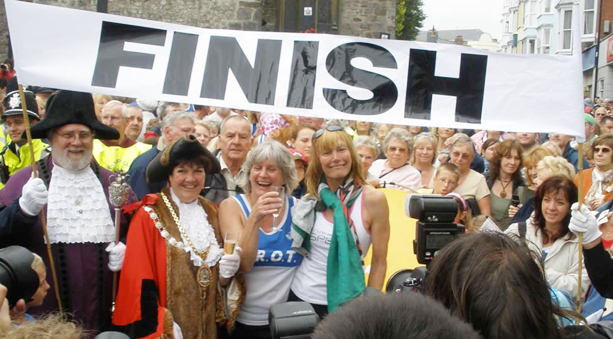 Rosie Swale-Pope Run Around the World Finish Line
