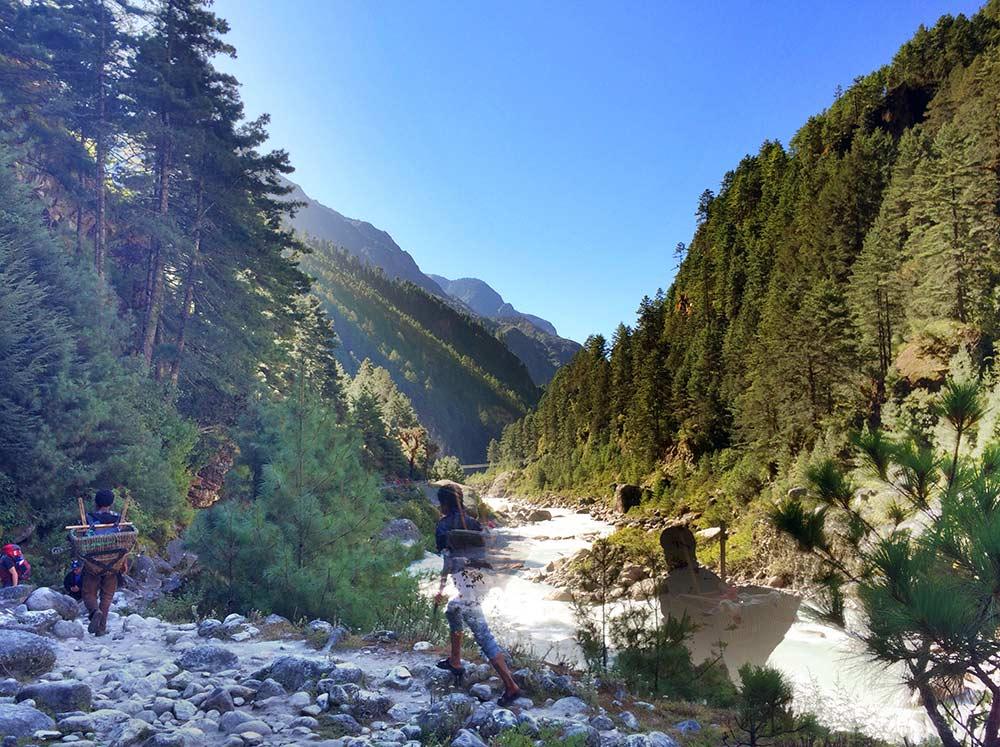 The view back to Lukla - Everest Base Camp Trek