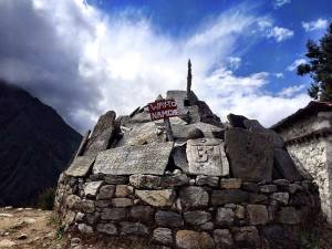 Way to Namche Bazaar Sign - Everest Base Camp Trek