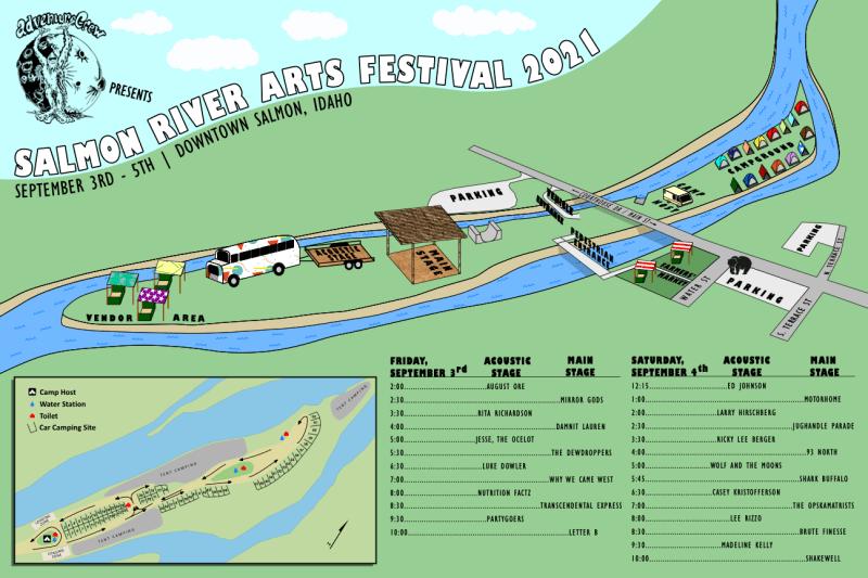 Island Illustration 12 x 18 Campsite Map 2021080801