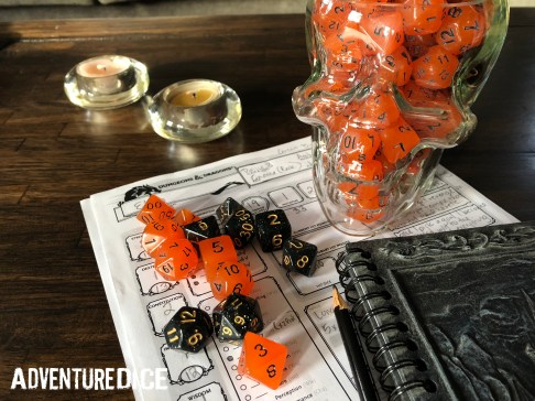 Orange Soda and Deep Space dice make for a spooky addition to Halloween collections.