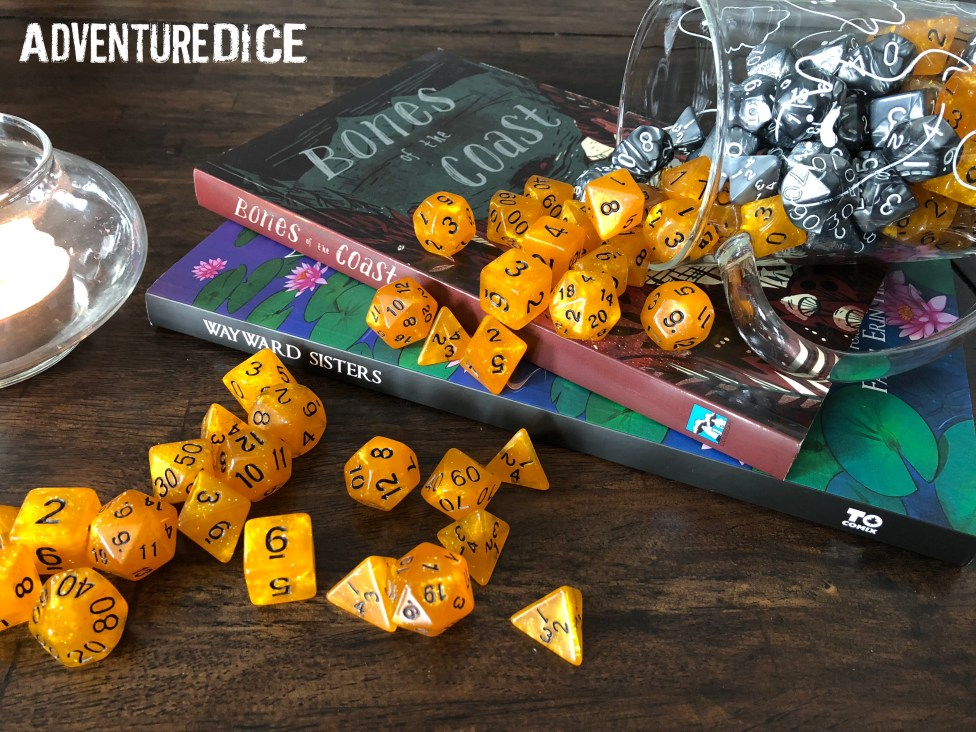 Golden Rune RPG dice set