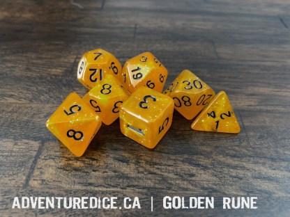 Golden Rune RPG dice
