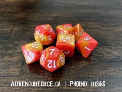 Phoenix Rising RPG dice