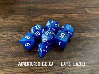 Lapis Lazuli RPG dice