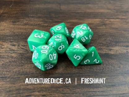Freshmint RPG dice