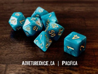 Pacifica RPG dice set