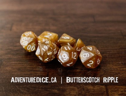 Butterscotch Ripple RPG dice