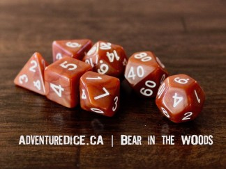 Bear in the Woods RPG dice