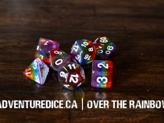 Over The Rainbow dice set