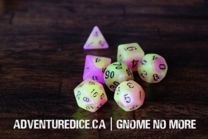 Gnome No More dice set
