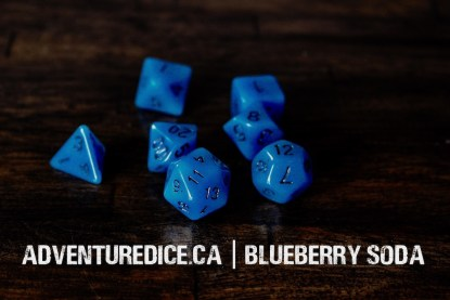 Blueberry Soda dice set