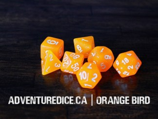 Orange Bird dice set