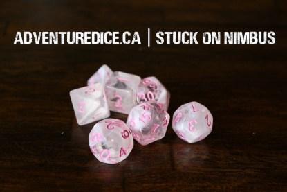 Stuck on Nimbus dice set