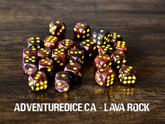 Lava Rock 24 PK D6 Dice Set