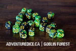 Goblin Forest 24 PK D6 Dice Set