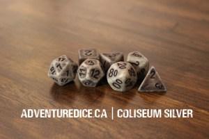 Coliseum Silver dice set