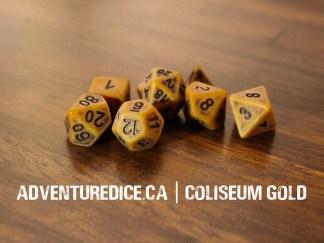 Coliseum Gold dice set