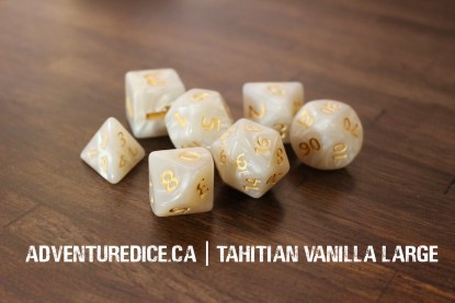 Tahitian Vanilla Large dice set