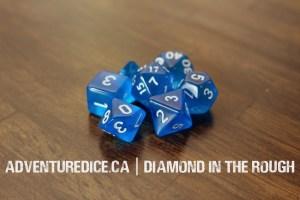 Diamond in the Rough dice set