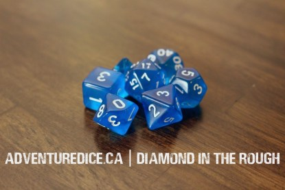 Diamond in the Rough dice set