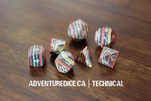 Technical dice set