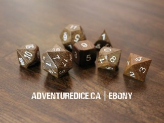 Ebony dice set