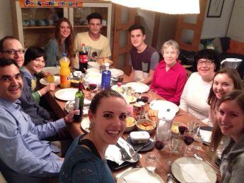 Family dinner for Marc's birthday