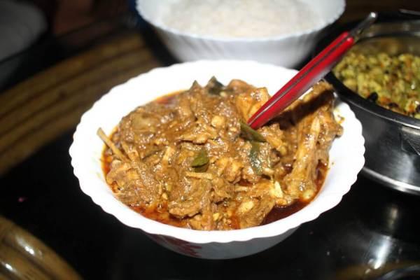 ケララ料理肉写真