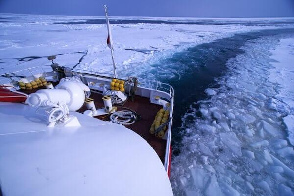 流氷クルーズの写真