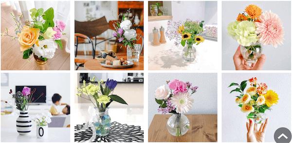 BloomeeLIFEで届くお花の見本画像