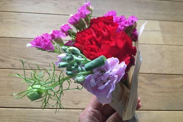 届いたお花の写真