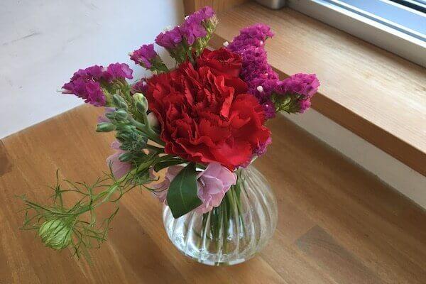 お花を飾ってみた写真