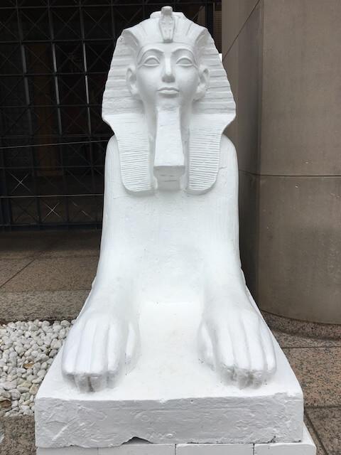 エジプト大使館スフィンクスの写真