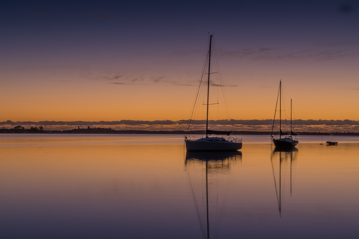 sunrise at Lake Macquarie