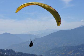 Sikkim valley view tandem paragliding flight