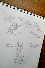 Dual-Creature Creations, Pencil, 24 September and 22 October 2016