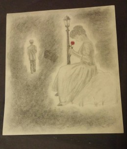 """""""He Loves Me,"""" Pencil on Paper, 21 February 2011"""