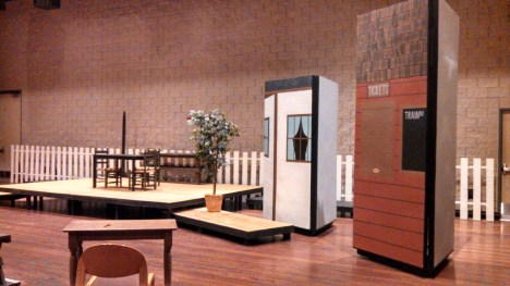 This was the first show I was paint charge for. It was Anne of Green Gables! I designed and painted each side of the periaktois to provide many different settings for one small stage.