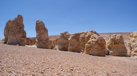 The Monks rock formations, near Salar de Tara