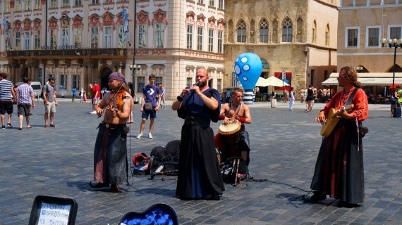 Entertainment in the Old Town Square