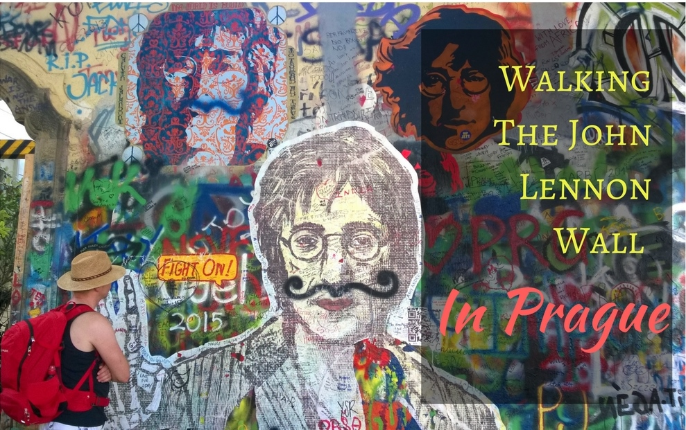 Walking The John Lennon Wall in Prague, Czech Republic